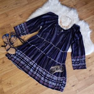Velzera Tiered Boho Peasant Dress 1X